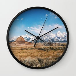 The Grand Tetons Wall Clock