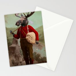 Lumberjack Marvin Moose Stationery Cards
