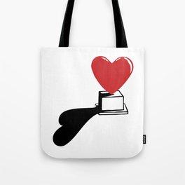 Pedestal love Tote Bag