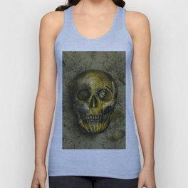 skull gold art decor Unisex Tank Top