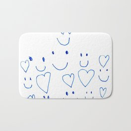 Hearts and Smiles Bath Mat