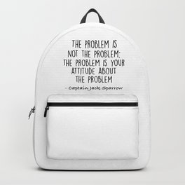Jack Sparrow - The problem is not the problem Backpack