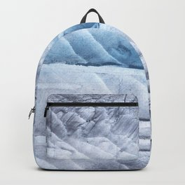 Light steel blue clouded wash drawing Backpack