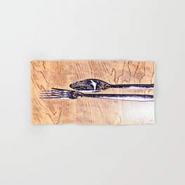 Forks and knives Hand & Bath Towel