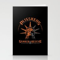 discount Stationery Cards featuring Snake Plissken's Search & Rescue Pty. Ltd. by 6amcrisis