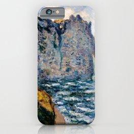 12,000pixel-500dpi - Claude Monet - The Cliff of Aval, Etretat - Digital Remastered Edition iPhone Case