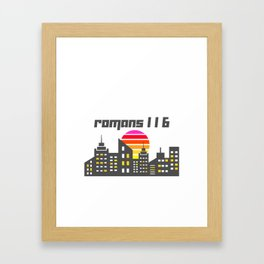Romans 1:16 Framed Art Print