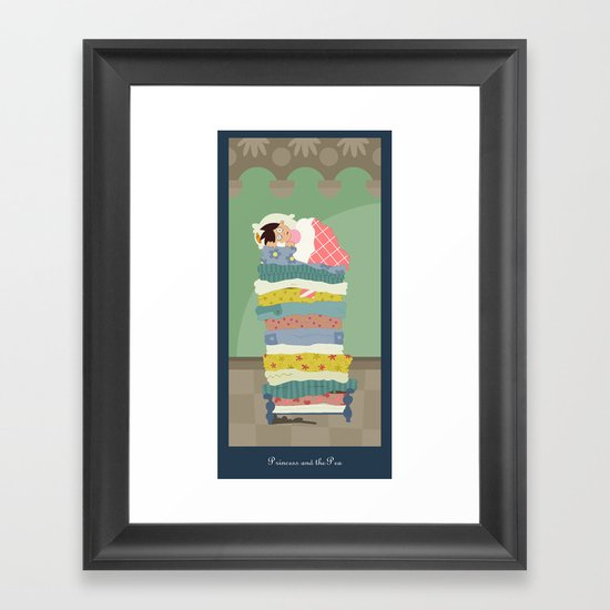 Princess and the Pea Framed Art Print