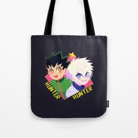 hunter x hunter Tote Bags featuring Hunter x Hunter by XENVITA