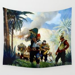 """""""Pirates With Their Plunder"""" by NC Wyeth Wall Tapestry"""