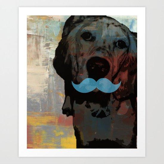 funny dog Art Print