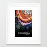 bible verse Framed Art Prints featuring Painting with Bible Verse by Creative Divvy