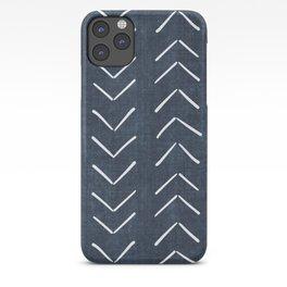 Mud Cloth Big Arrows in Navy iPhone Case