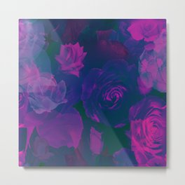 Pink & Purple Roses Metal Print