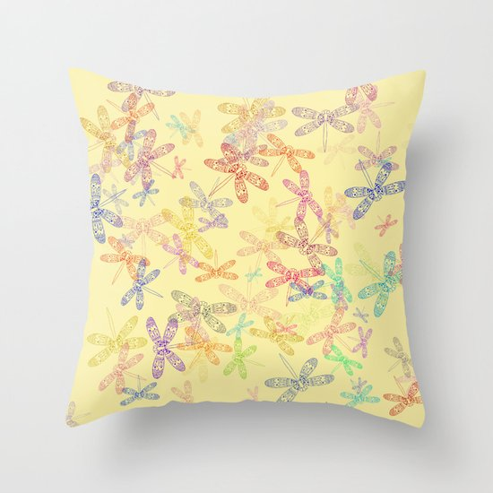 Dragonfly Dragonfly oh, Dragonflies Everywhere! Throw Pillow