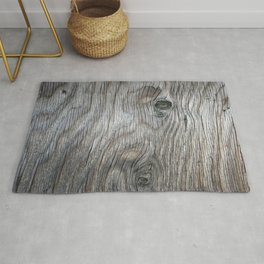 Real Aged Silver Wood Rug