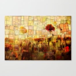 Poppies in the Sun Mosaic Canvas Print