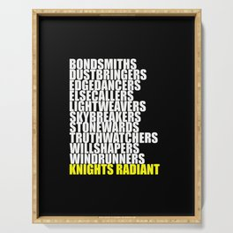 knights radiant Serving Tray