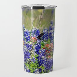 Butterfly and Bluebonnets Travel Mug