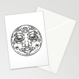 Graphic face Stationery Cards