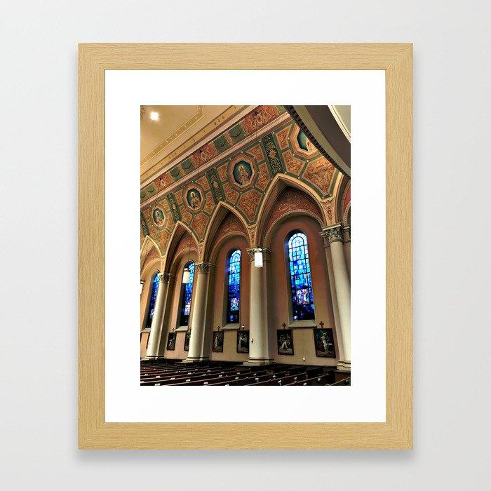 A Prayerful Hour Framed Art Print