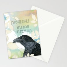 Feeling Fab Raven Stationery Cards