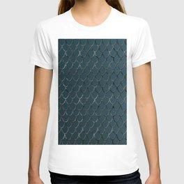 Teal Mermaid Scales Glam #1 #shiny #decor #art #society6 T-shirt
