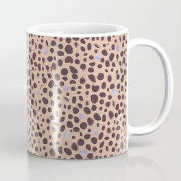 488-Leopard print pattern with watercolor shining dots Coffee Mug