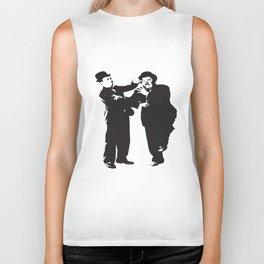 Laurel And Hardy Keystone Cops Keaton Chaplin Stan Laurel Oliver Hardy Police T-Shirts Biker Tank
