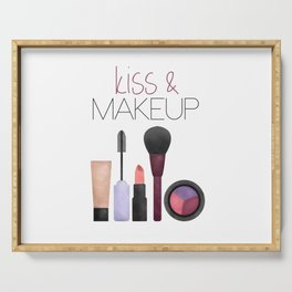 Kiss & Makeup Serving Tray