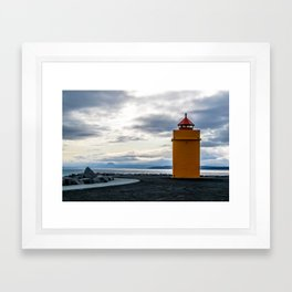 Lighthouse at the Point Framed Art Print