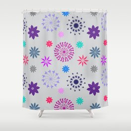 Fireworks on a Gray Day Shower Curtain