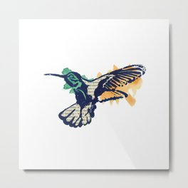 Hummingbird - Collage Metal Print