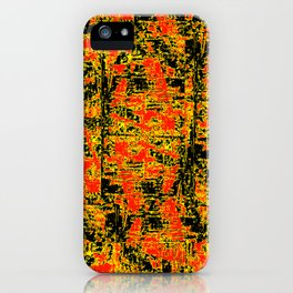 Golden Red iPhone Case