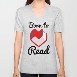 Born to Read II Unisex V-Neck