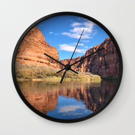 Cruising on the Colorado River Wall Clock