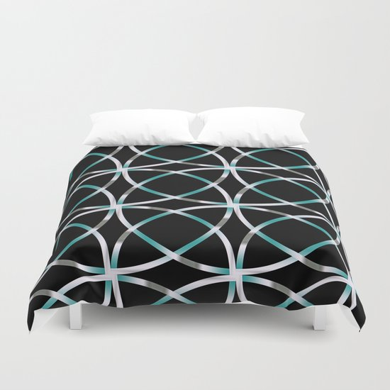 Intersecting Rings Fractal in TPGY Duvet Cover