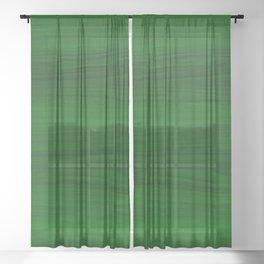 Green Wood Sheer Curtain
