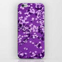 Purple Glitter Stars #1 #shiny #decor #art #society6 iPhone Skin