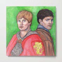 Merlin and Arthur Metal Print