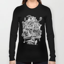 Her Ring-tailed Lemur Hat Long Sleeve T-shirt