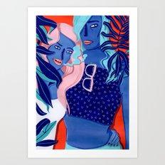 MEET ME AT THE POOL 4 Art Print