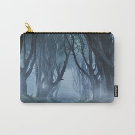 Very cold foggy morning at Dark Hedges Carry-All Pouch