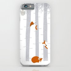 Playing in the snow iPhone 6 Slim Case