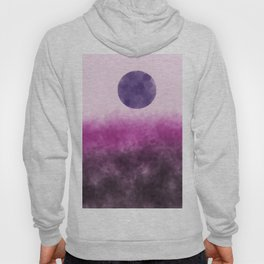 Pink landscape with purple moon Hoody