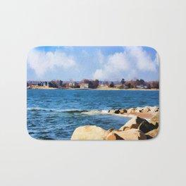 New England Shoreline - Painterly Bath Mat