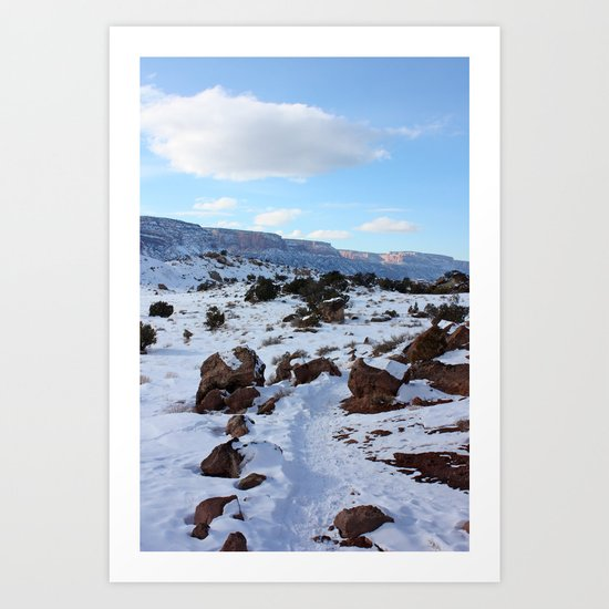 Colorado Canyons in the Cold 2 Art Print
