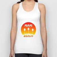 miami Tank Tops featuring Miami by Chris Hardie
