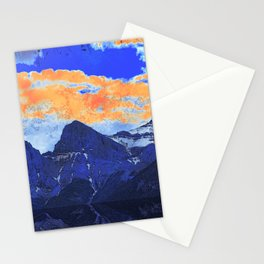 Faith - Hope - Charity - The Three Sisters Mountains, Canmore, AB, Canada Stationery Cards
