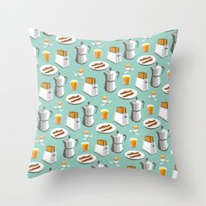 Happy breakfast! Throw Pillow